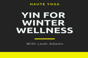 Yin For Winter Wellness with Leah Adams