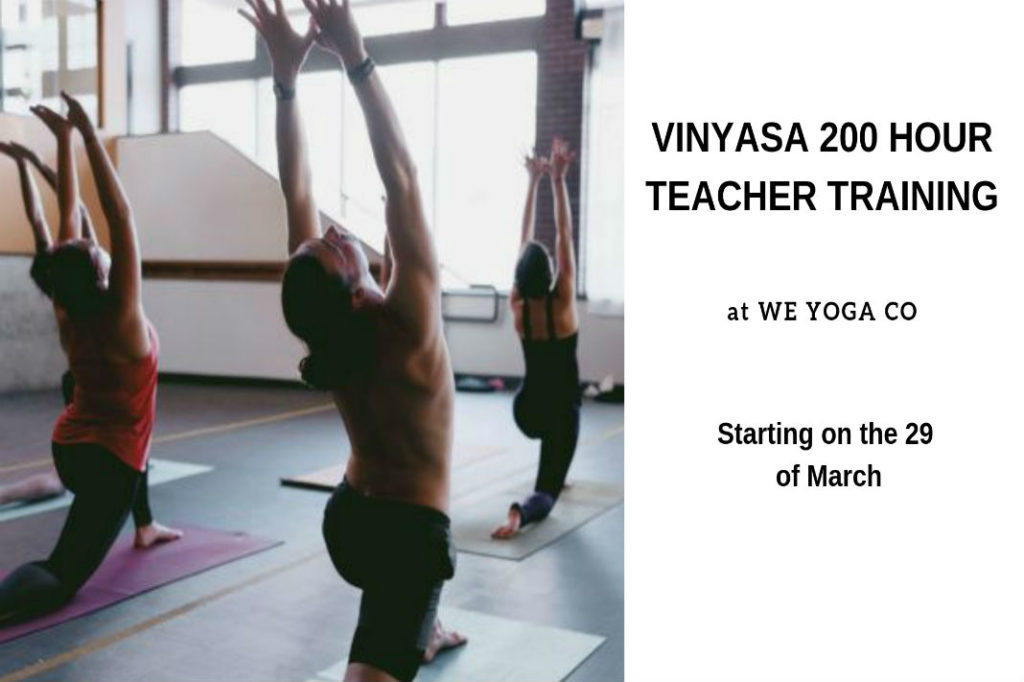 We Yoga Co's Vinyasa 200 Hour RYT