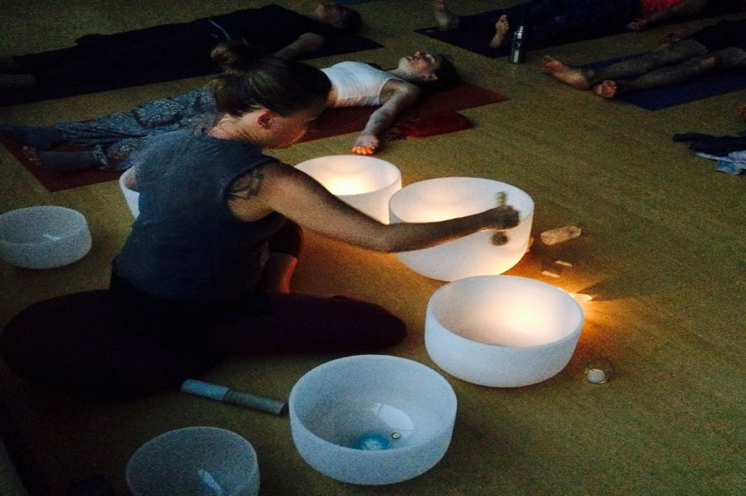 Sound Bath on the SoMat with Megan Sloan and Chiara Guerrieri Yogabliss