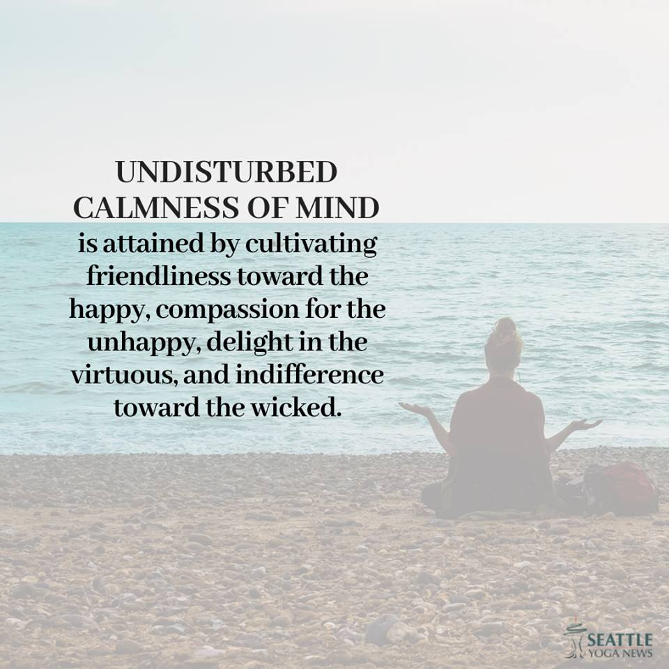 Undisturbed calmness of mind quote