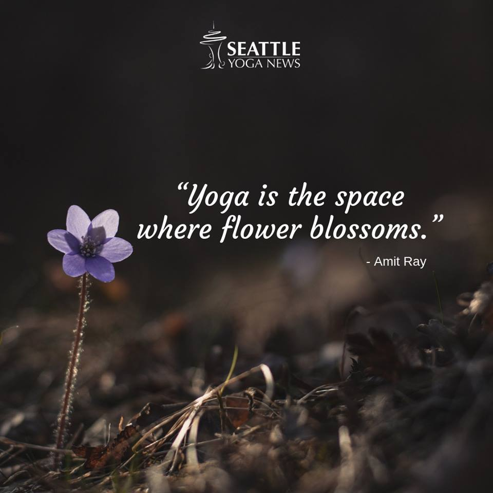 yoga flower blossom quote