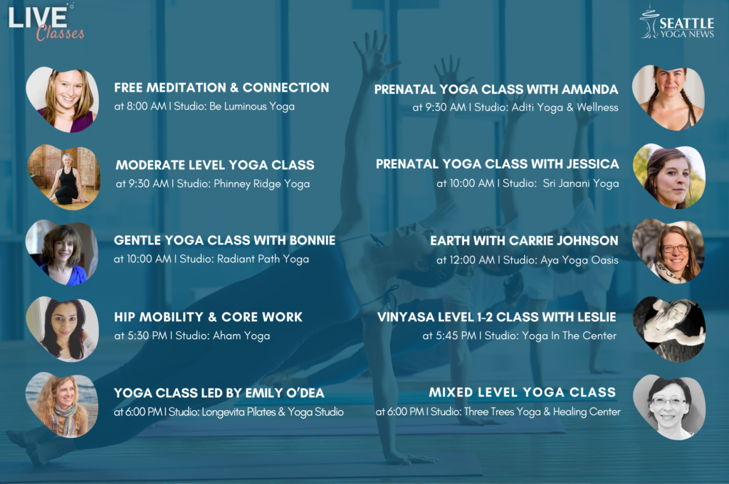 Seattle-Area-Live-Yoga-Classes-Wednesday-1st-Apr-schedule