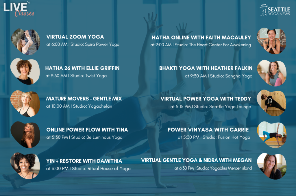 Seattle Area Online Yoga Classes - Thursday Apr 9th schedule