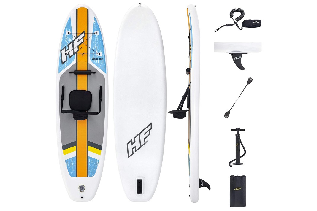 HydroForce White Cap Inflatable Stand Up Paddleboard SUP and Kayak 10′